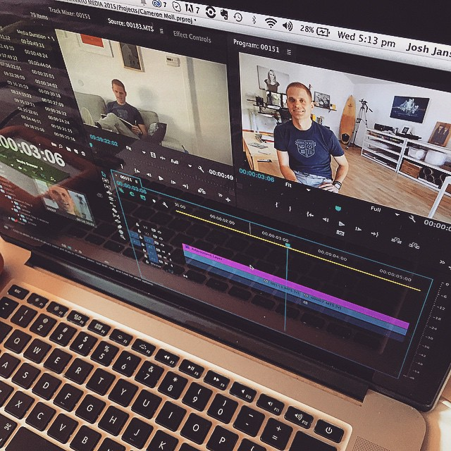 Currently in our hotel room editing the next episode of the #MadeBySeries featuring the talented @cameronmoll