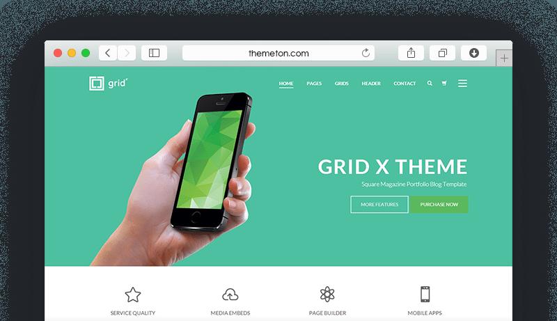 Grid X on Safari